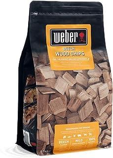 Weber 17622 Żetony wędzarnicze buk, 700 g, subtelny aromat wędzarni, mięso i dania, aromat, wędzenie, grillowanie
