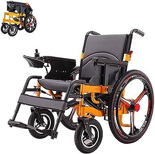 RDJM De Peso Ligero Plegable sillas de Ruedas eléctrica Silla de Ruedas eléctrica Silla de Ruedas Plegable de Peso Ligero de energía eléctrica con batería de polímero