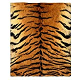 Moslion Soft Cozy Throw Blanket Animal Tiger Skin Print Fuzzy Couch/Bed Blanket for Adult/Youth Polyester 30 X 40 Inches(Home/Travel/Camping Applicable)