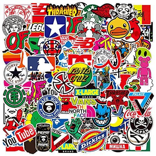 Moda di Strada Sticker Decalcomanie (100 pezzi), Adesivi in Vinile per Laptop per Bottiglia d'acqua, Borraccia, Snowboard, Bagagli, Moto, Phone, MacBook, Parete Decalcomania