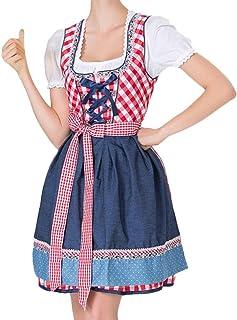 VECDY Damen Kleid, Herbst Neue Frauen Bandage Schürze Bayerische Oktoberfest Kostüme Barmaid Dirndl Dress Elegantes Kleid Karneval Mädchen Outfit