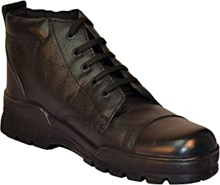 Tsf-Formal Lace Up Police Boot (Black)