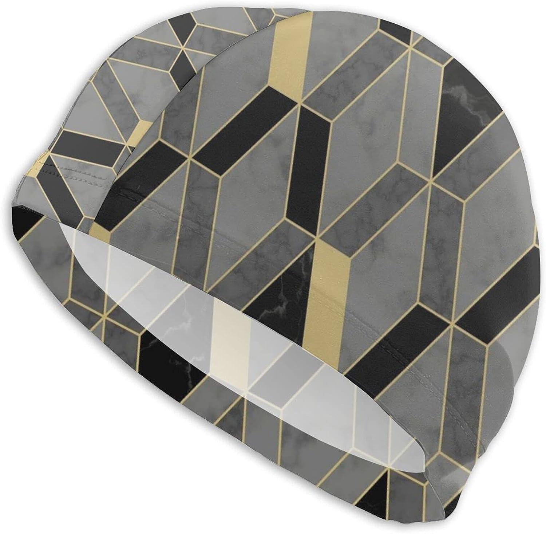 Jeezshop Free Shipping Cheap Bargain Gift Fashion Artistic Gold Memphis Mall Geometric for Stitching Caps Swim