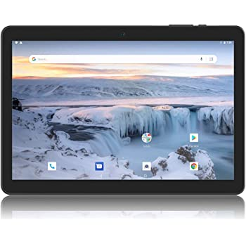 Android Tablet 10 Inch, Android 9.0 Pie Unlocked Tablet PC with SIM Card Slot, 3G Phone Support, Quad Core, 1.3GHz, 16GB, 2MP+5MP Dual Camera, WiFi, Bluetooth, GPS