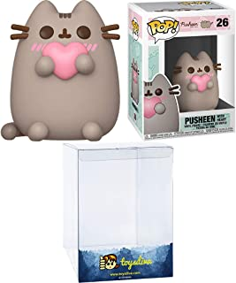 Pusheen with Heart: Funko Pop! Vinyl Figure Bundle with 1 Compatible 'ToysDiva' Graphic Protector (026 - 44529 - B)