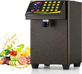 Esehoyo Fructose Dispenser Machine Bubble Tea Sugar Dispenser Equipment Drink Dispenser Machine (Gold, 110V)