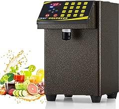 Esehoyo Fructose Dispenser Machine Bubble Tea Sugar Dispenser Equipment Drink Dispenser Machine (Gold, 110V)