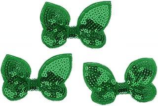 PULABO DIY Navidad adornos para el cabello lentejuelas Bowknot accesorios para el cabello pajarita para niños niñas uso 3 ...