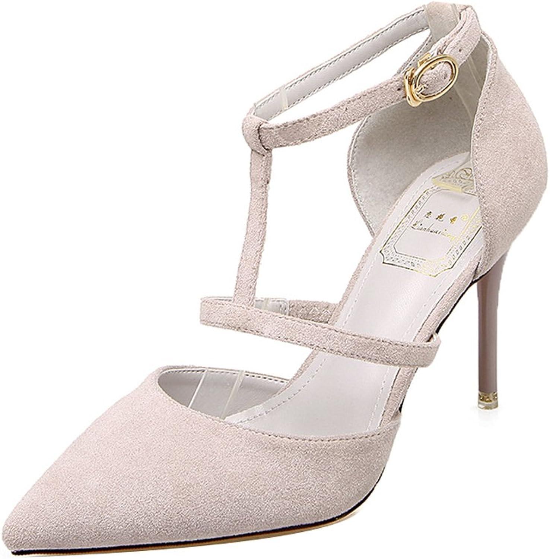 Ladola Ladola Ladola kvinnor Ankle Justerbara Strap Spikes Stilettos mocka Pumpskor  het försäljning