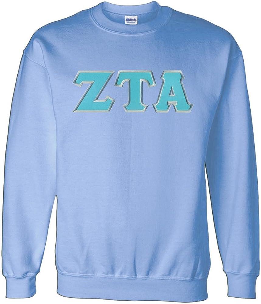Zeta Tau Alpha Under blast sales Crewneck Lettered Rapid rise