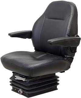 K/&M 039-6778 KM 125 UNI PRO Bucket Seat W//Slides and Arms Gray Vinyl K/&M Manufacturing