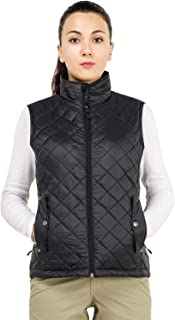 MIER Women's Lightweight Insulated Vest Puffer Padded Vest with 7 Pockets Water Resistant and Windproof, Black