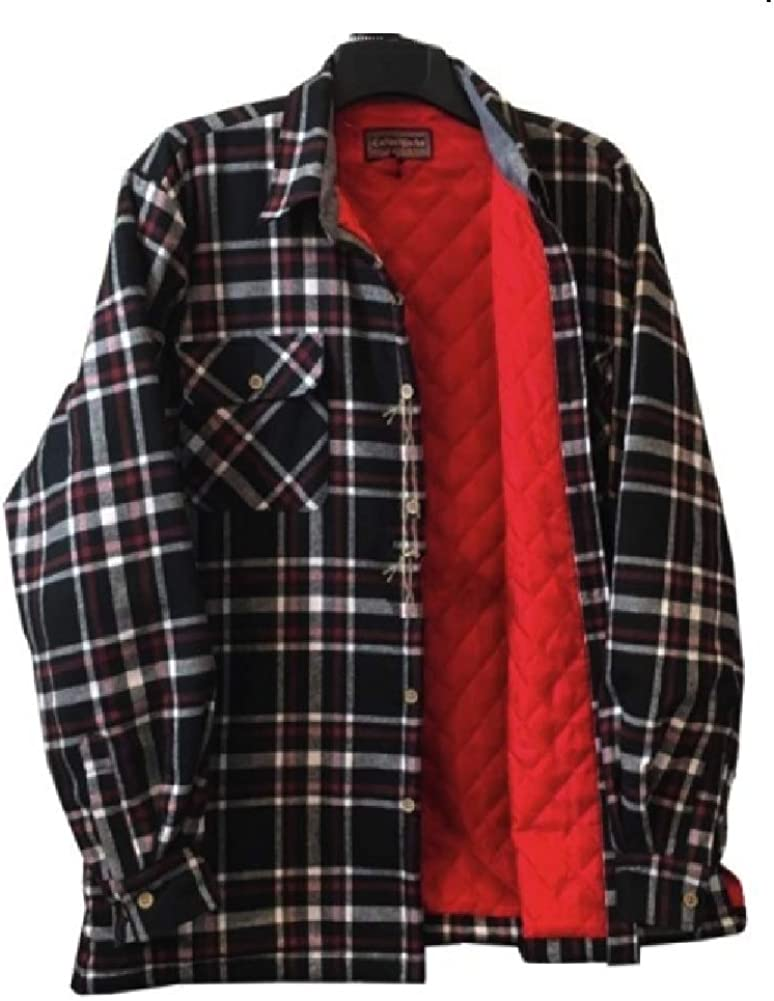 Big and Tall Polar Insulated Flannel Shirt Jacket to Size 8X for Work and Casual Wear