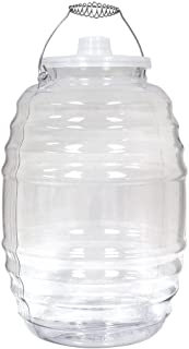 Royal Cook Vitrolero Aguas Frescas Tapadera Plastic Water Container with Lid, 5 Gallon, Clear [CONTAINER AND LID, COMPLETE SET][1 Unit]