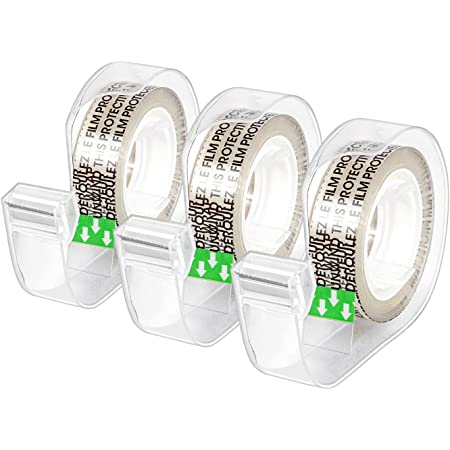 """Amazon Basics Double Sided Tape with Dispenser, 1/2"""" x 7 yds., 3 Pack"""
