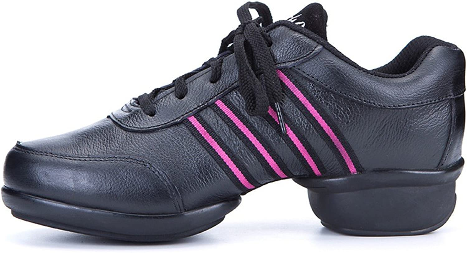 WXMDDN The Girl Jazz Dance shoes Dance shoes Black mesh Dance shoes Leather shoes in The Professional Dance Dance shoes