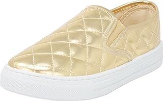 4c91c8e9e82020 Cambridge Select Women's Round Toe Slip-On Quilted Stretch Fashion Sneaker