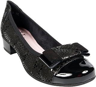 chaussures HIRICA à lacets en cuir noir vernies taille 39 1