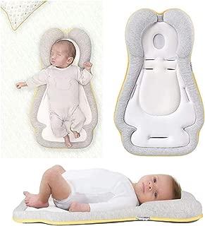 JJ Love - Almohada de prevención de cabeza plana para recién nacido, proporciona todo el apoyo (beige)