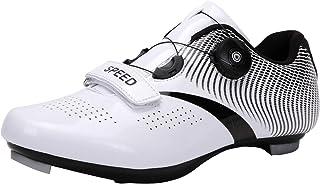 Fietsschoenen voor heren, compatibel SPD/SPD-SL, dubbele ratel, MTB-schoenen, hometrainer, ademend, stabiel, comfortabel f...