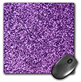 3dRose LLC 8 x 8 x 0.25 Inches Mouse Pad, Purple Faux Glitter Photo of Glittery Texture Fashionable Girly Trendy Glam Sparkly Bling Effect (mp_112889_1)
