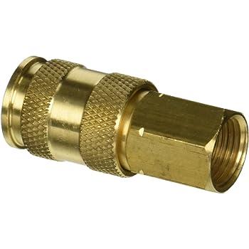 Milton 763 3//8 FNPT V Style High Flow Plug Box of 10 Milton Industries