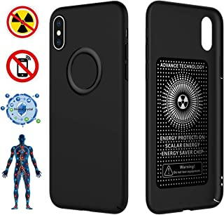 CCSJ iPhone X Case/iPhone 10 Case,Ultra Thin Soft Slim Fit Cover,Anti-Radiation(EMF)&Negative Ion Energy Case for Apple iPhone X/iPhone 10 (Matte Black)
