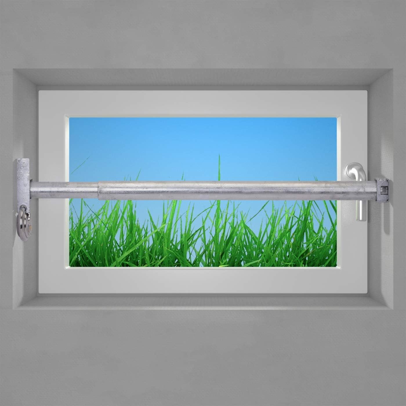 Sicherheitsstange Fenster Sicherung Fenstergitter,Einbruchschutz bis 499mm 0166A