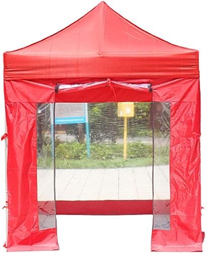 Wadwo Tente extérieure Oxford Tissu Enfants Adulte Quatre Pieds Pliant Auvent Rétractable Coupe-Vent Rétractable - 4 Tissu Transparent