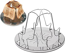 Pan y Tostadas Plegables para cocinar al Aire Libre Camping D2D Posavasos Plegable 4 Slice para Camping Estufa de Gas