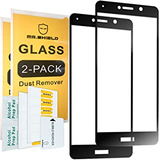 [2-Pack]-Mr.Shield for Huawei Mate 9 Lite [Tempered Glass] [Full Cover] [Black] Screen Protector with Lifetime Replacement