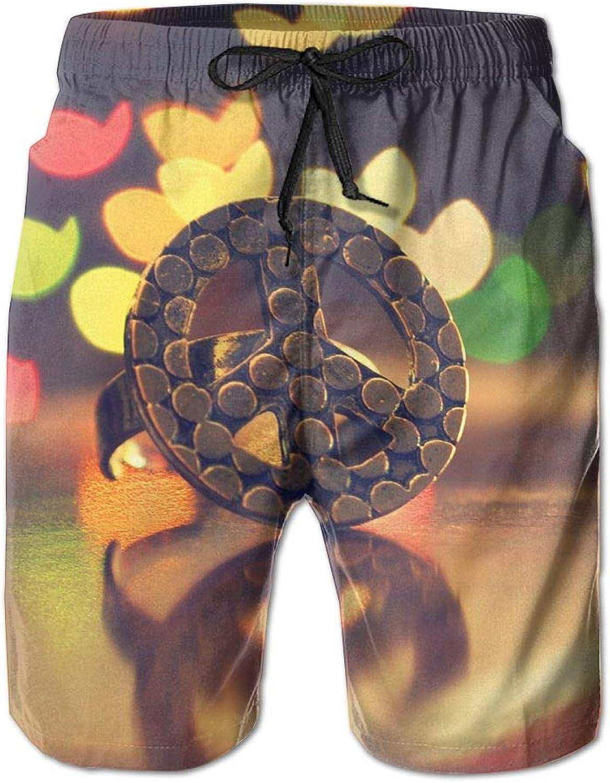 97a1b3e1ae Quick Dry Men's Beach Board Board Board Shorts Peace Heart Surfing Swim  Trunks Beachwear With Pockets 9b7e84
