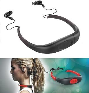 iTecoSky IPX8 Waterproof 8GB Underwater Sport MP3 Music Player Neckband Stereo Audio Earphone Headset Headphone Mini Porta...