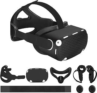 Vakdon VR 6en1 Kit Accessoires, pour Oculus Quest 2, Contenir Sangle de Tête Réglable K6 + Masque + Housse de Protection A...