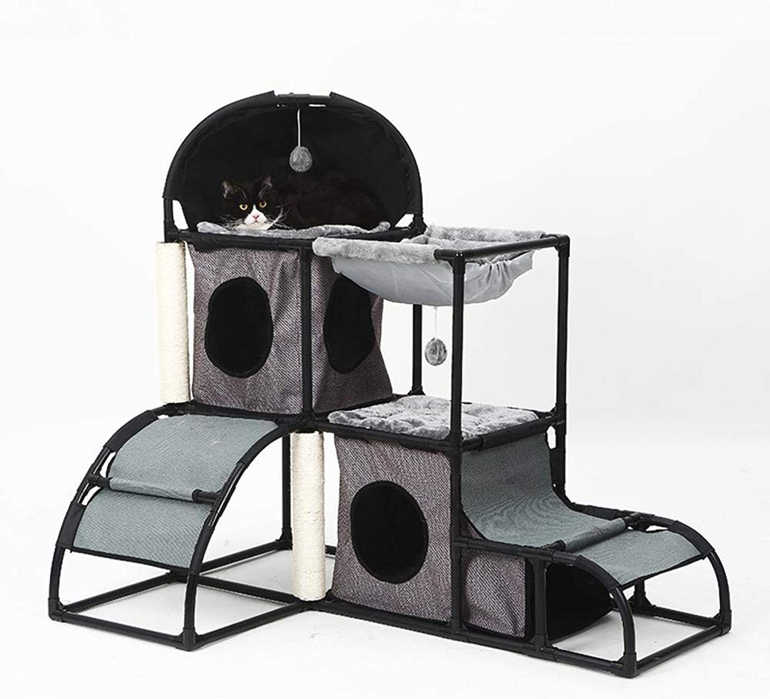 Aoligei Cat Play Towers & Trees Station Multifunctional removable cat litter cat platform 107  80  120cm