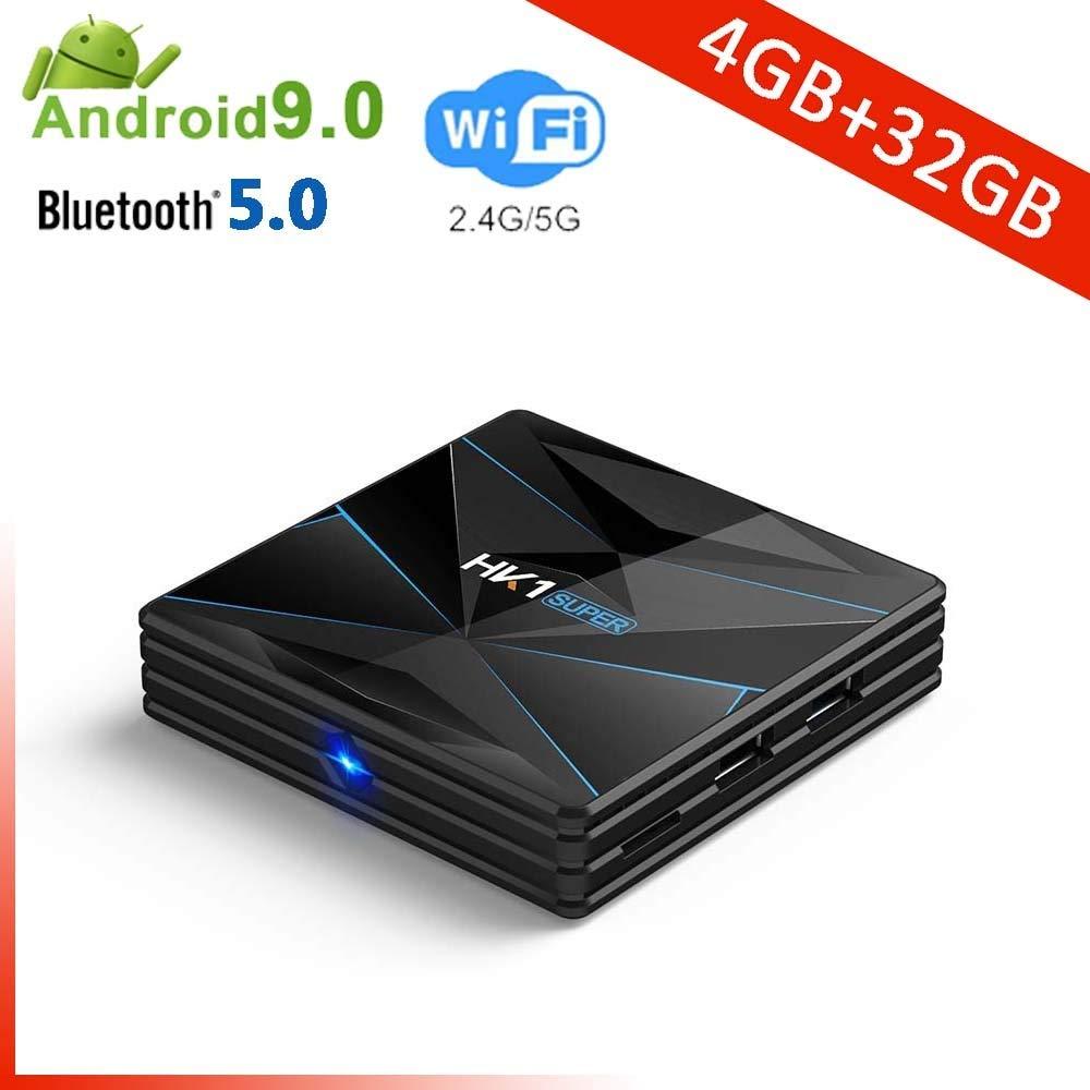YPSMCYL HK1 Super Android 9.0 CAIXA De TV Inteligente Google Assistente RK3318 4K 3D Utral HD 4G 64G TV WiFi Play Store Aplicativos Gratuitos Rápido Set Top Box,4GB+32GB: Amazon.es: Hogar