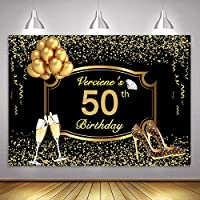 MME 10x7フィート ゴールド 50歳の誕生日 写真背景 VIP カスタム Lサイズ シームレス写真ブース小道具 HXME680