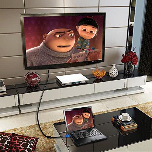 LEEBA Cable VGA a VGA DE 1,5 Metros, 3 Metros, 5 Metros, 10 Metros, Cable de extensión para Monitor de vídeo, Compatible con proyector 10 m