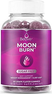 MoonBurn Nighttime Melatonin Gummies - Apple Cider Vinegar, Chromium, Magnesium - Weight Management & Sleep Support - Grap...