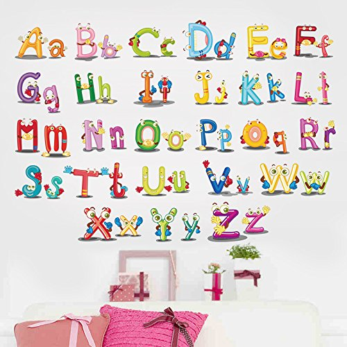 Stickers met Engelse letters om te leren puzzel voor school, kleuterschool, wandsticker, woonkamer, slaapkamer voor kinderen, 45 x 60 cm