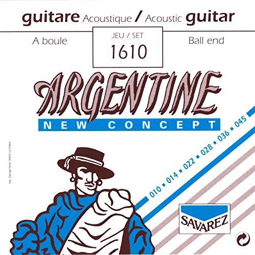 Savarez 1610Gitarrensaite für Akustikgitarre, 10–45 Ball End
