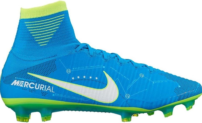 Nike Men's Mercurial Superfly V NJR FG Soccer Cleat (Sz. 11.5) bluee Orbit
