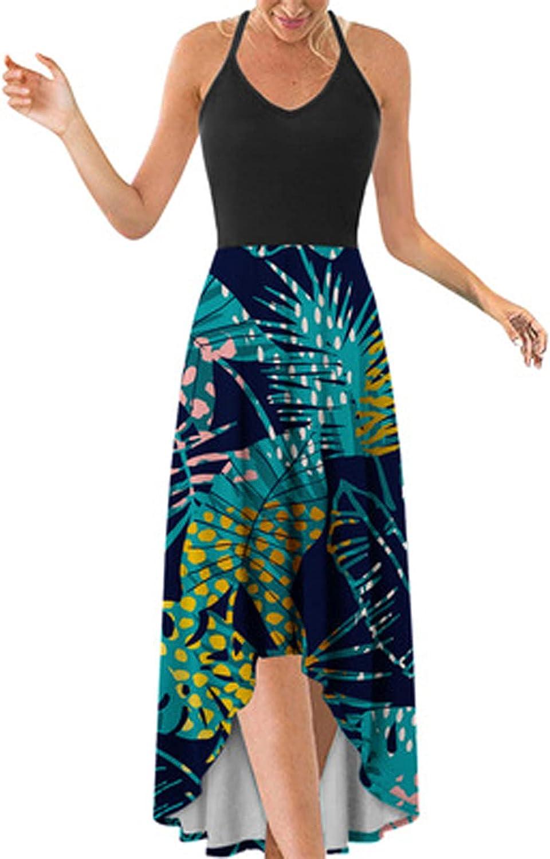 Women's Dresses Summer Floral Bohemian Adjustable Spaghetti Strap Swing Midi Vest Dress