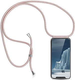 XCYYOO Étui Coque Universel avec Cordon Sangle Dragonne pour iPhone XS Max,Housse en Silicone avec Collier Transparent Lan...