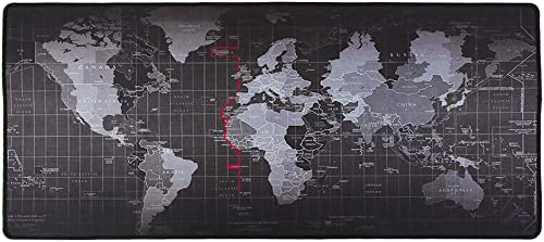 Anti-Skid Mousepad Extended Super Large World Map Keyboard Mouse Pad