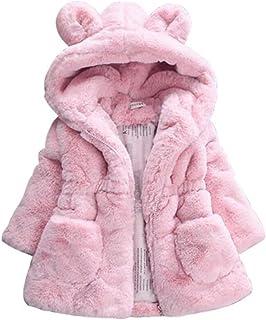 : manteau fourrure Rose Fille : Vêtements