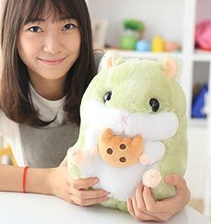 Cute Cartoon Hamster Throw Pillows Plush Toys Birthday Gift Soft Pillows Animal Stuffed Toys (22cm/8.7inch, green)