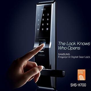 指纹 SAMSUNG SHS-5230 (SHS-H700) 数字门锁无钥匙触摸板* EZON + 2 个紧急键 EXPRESS Ship