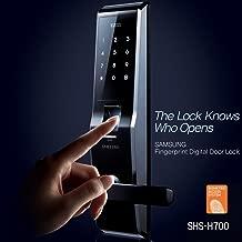 Fingerprint SAMSUNG SHS-5230 (SHS-H700) digital door lock keyless touchpad security EZON + 2pcs of Emergency keys EXPRESS Ship