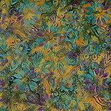 Kürbis Flourish Design 100% Baumwolle Bali Batik tie dye